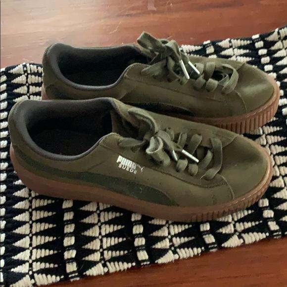 Puma Shoes   Fenty Suede Platform Core